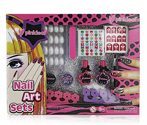 Pinkleaf Nail Art Set For Girls, Gift For Kids. (Nail Polish Girls Set compare prices)