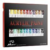 Madisi Acrylic Paint Set - 24 Vivid Colors, 12 ML Tubes (Color: 24 Acrylic Paint)