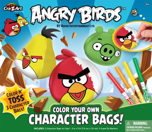 Angry Birds Color Your Own Beanbags - 1