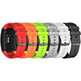 NotoCity Compatible Samsung Gear Fit2 Pro Band Solft Silicone Gear Fit2 Watch Strap Samsung Gear Fit2 Pro Smartwatch Bands Man Women (6PACK, Large) (Color: 6PACK, Tamaño: Large)