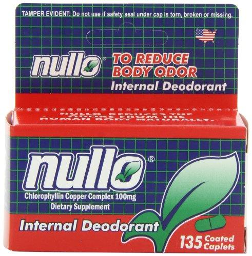 Nullo Internal Deodorant, Coated Caplets, 135 Caplets