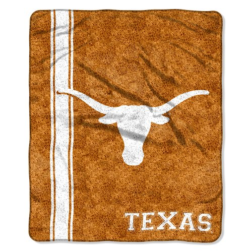 """Ncaa Texas Longhorns 50-Inch-By-60-Inch Sherpa On Sherpa Throw Blanket """"Jersey"""" Design front-502741"""