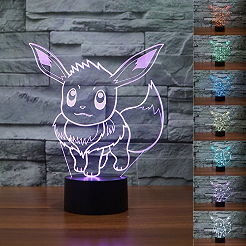 Pokemon Eevee 3D Illusion Night Light