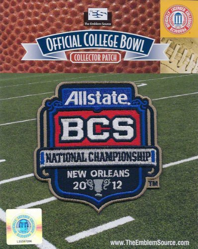 2012 BCS Championship Official Patch LSU Tigers vs Alabama Crimson Tide at Amazon.com