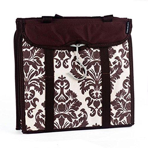 travelon-hanging-handbag-organizer-set-of-2-chocolate-damask-by-travelon