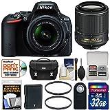 Nikon D5500 Digital SLR Camera & 18-55mm VR DX II, 55-200mm VR Lenses + 32GB Card + Case Kit (Certified Refurbished)