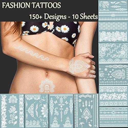 tafly-tatouages-150-prime-de-dentelle-blanche-et-des-tatouages-temporaires-faux-bijoux-bracelets-plu