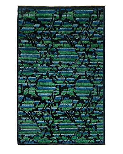 Darya Rugs Arts & Crafts Handmade Rug, Black, 6' x 9'