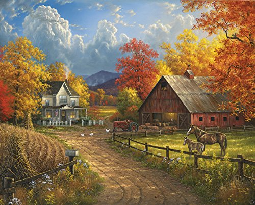 White Mountain Puzzles Country Blessings Jigsaw Puzzle (1000 Piece) (Nature Puzzle 1000 compare prices)