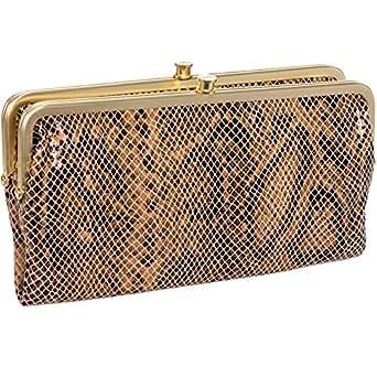 Hobo Women's Genuine Leather Vintage Lauren Clutch Wallet (Autumn Python)
