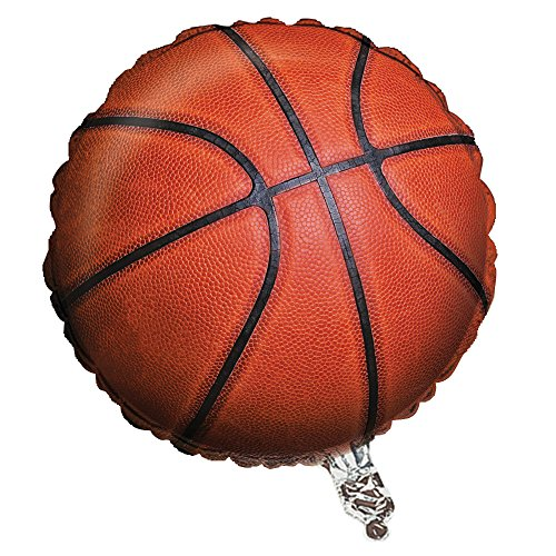 Creative Converting Sports Fanatic Basketball Metallic Balloon, Orange - 1