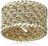 14k Yellow Ladies Gold Rope Ring, Size 7