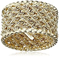 14k Yellow Ladies Gold Rope Ring, Size 7