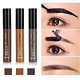 Huayang| Long Lasting Tattoo Eyebrow Gel Pack 6g, Women Peel Off Waterproof Eyebrow Tint Gel Cream - Three Colors for Choice - Dark Brown