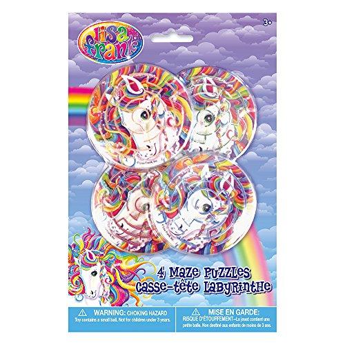 Rainbow Majesty by Lisa Frank Maze Puzzles, 4ct