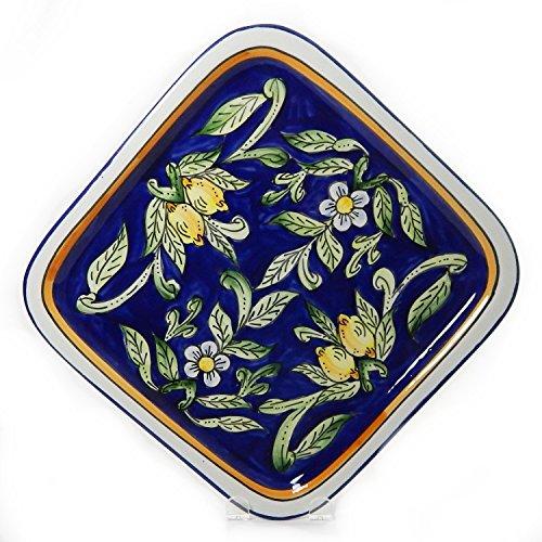 Le Souk Ceramique Square Platter, Citronique Design front-89848