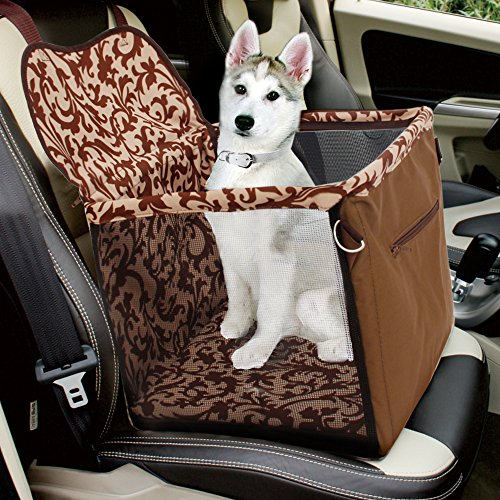 Pet Carrier Car Seat for Small / Medium Dog Cat Puppy Accessories Brown Color