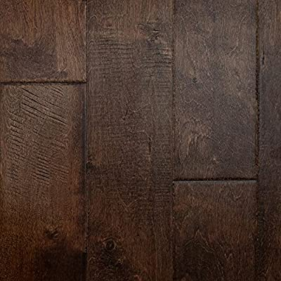 "Birch (Rum Barrel) Hand Scraped Prefinished Engineered Wood Flooring 5"" x 3/8"" Samples at Discount Prices by Hurst Hardwoods"