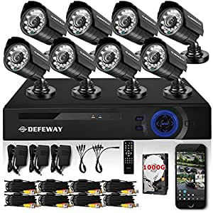DEFEWAY 8 Channel 960H/ 720P AHD DVR