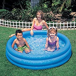 Inflatable Crystal Swimming Blue Pool (45in X 10in)
