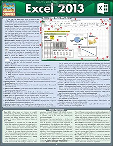 Excel Formulas (Quick Study Computer)