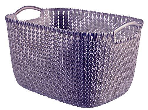 Curver 03700-X66-00 Knit Corbeille rectangulaire Plastique Violet 39,5 x 29,5 x 23,6 cm 19 L