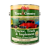 Majic Paints 8-0951-1 Town & Country Tractor, Truck & Implement Oil Base Enamel Paint, 1-Gallon, I.H. White (Color: I.H. White, Tamaño: Gallon)