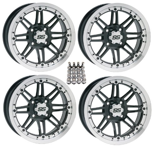 ITP SS212 ATV Wheels//Rims Black 12 Polaris Sportsman RZR Ranger 4