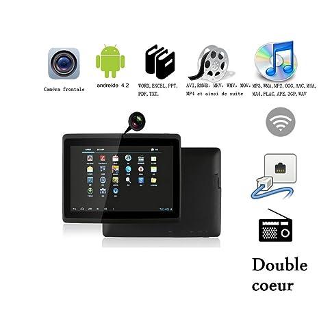 """Tablette tactile Tablette 7"""" écran HD RAM 512 Mo ROM 4Go (Noir)"""