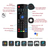 Air Remote Mouse 2.4GHz Mini Wireless Keyboard Mouse with Voice Input Android TV Remote Control Infrared Leaning for Android TV Box,Mini PC,Mac OS