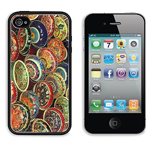 Colorful Turkish Tea Bowls 3Dcom Iphone 4 / 4S Cover Premium Aluminium Design Tpu Case Open Ports Customized Made To Order