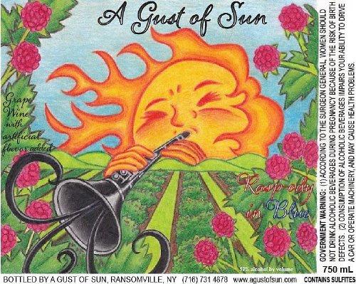 Nv A Gust Of Sun Sweet Rasp-Ody In Blue Blend - White 750 Ml