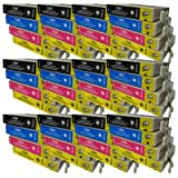 48 CiberDirect High Capacity Compatible Ink Cartridges for use with Epson WorkForce WF-7525 Printers.