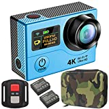 GreatCool 4K Actionkamera Dual-Bildschirm-Design Wireless-Fernbedienung Camera