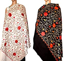 Diwali Sale - Set of Two Embroidery Stole & shawl for women