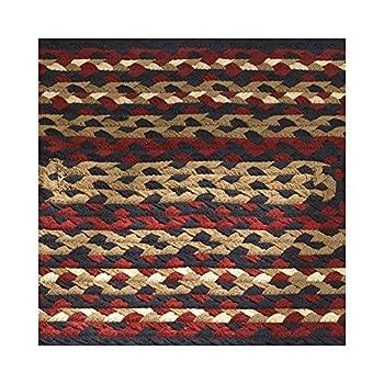Braided Rugs Folk Art Style Runner, 30 X 72