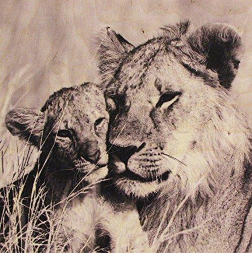 Growth Chart Art Nursery Safari Animal Wall Art Plaque, Lion