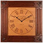 Cherry Clock with Carved Sentiment