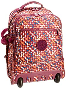 Kipling Unisex Adult Soobin Wheeled Backpack With Ergonomic Backpanel And Padded Straps Diamond Print K10765154 from Kipling