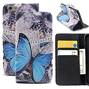 6 Plus Case,iPhone 6 Plus Case, [Wallet Case] Wild Wolf Apple iPhone 6 Plus 5.5 inch Case PU Leather Magnetic Flap Closure Cover with Credit Card ID Holders Folio Flip for iPhone 6 Plus Cases