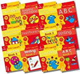 Collins Easy Learning Preschool Age 3-5 Collection - 12 Books RRP £35.88 (ABC Age 3-5; More ABC Age 3-5; First Phonics Age 3-5; Reading and Rhyme Age 3-5; Writing Age 3-5; More Writing Age 3-5; Counting Age 3-5; More Counting Age 3-5; Shapes...) Harper