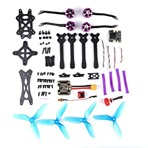 Q215MM FPV Racing Drone DIY Assembled 800TVL Motor Frame Kit 5.8G 48CH RC Toys,Outdoor Racing Controllers Helicopter Sky Rover,Rc Airplane,RC Helicopter,Drones Parts,Remote Control (with Receiver) (Color: With Receiver, Tamaño: Free Size)