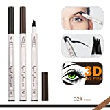 CINIDY Tattoo Eyebrow Pen 2018 NEW 4D Eyebrow Long Lasting Tint Dye Cream,Waterproof,Smudge-proof (# 02) (Color: # 02)