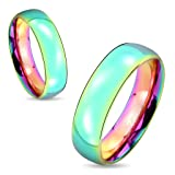 STR-0416 Stainless Steel Dome Rainbow Ring; Sold as 1 Piece (10)