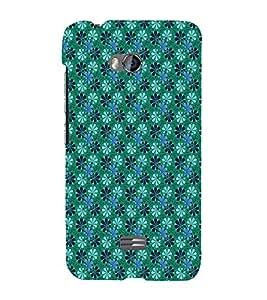 EPICCASE velvet greeny flowers Mobile Back Case Cover For Micromax Q336 (Designer Case)