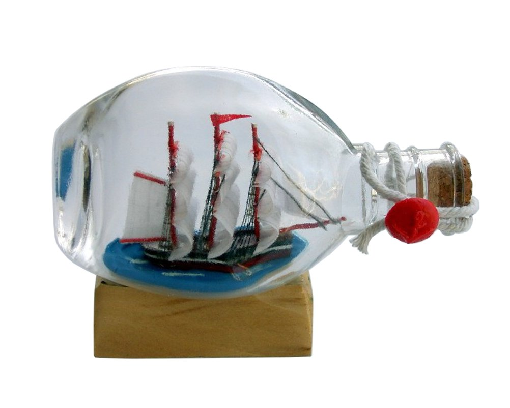 Boat or Ship in Pinch Bottle