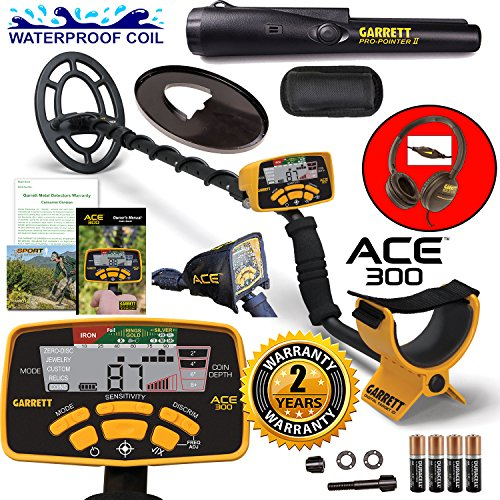 garrett-ace-300-metal-detector-with-waterproof-search-coil-and-pro-pointer-ii