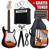 Rocktile ST-Pack Komplettset E-Gitarre Sunburst