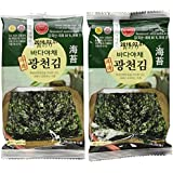 Premium Roasted Seaweed Snack(Green Laver) 5g - Pack of 10
