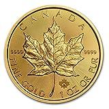カナダ メイプルリーフ 50ドル金 ゴールド コイン 31.1グラム 2016年製造 24K 1オンス 純金 インゴット金貨 カプセル クリアーケース付き